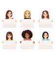 women wit board vector image