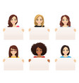 women witn board vector image