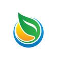 circle leaf ecology vector image