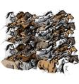 Sketch of horse running vector image