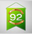 ninety two years anniversary celebration design