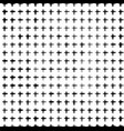 black pattern of small crosses vector image