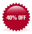 40 Off Sticker vector image vector image