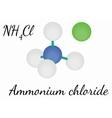 Ammonium chloride NH4Cl molecule vector image vector image