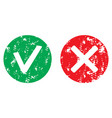 approve and reject symbol stamp vector image