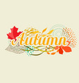 background with falling leaves vector image