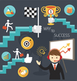 Business Concept Stairway to Success Presentation vector image vector image