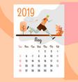 calendar 2019 may calendar calendar vector image vector image
