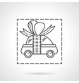 Car prize flat line icon vector image