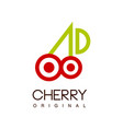 cherry original creative logo template can be vector image