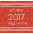 Christmas knitted sweater design pattern Happy vector image vector image