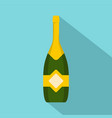 closed champagne icon flat style vector image vector image