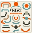 Collection of labels and ribbons in retro vintage vector image vector image
