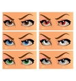 Color and demonic women look in the face vector image