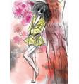 comics beauty manga - an hand painted vector image vector image