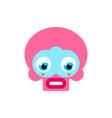 cute pink skull kawaii skeleton head vector image vector image