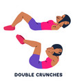 double crunches double crunch sport exersice vector image