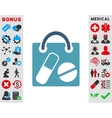 Drugs Shopping Bag Icon vector image vector image