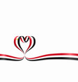 egyptian flag heart-shaped ribbon vector image