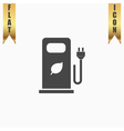 Electric car charging station or Bio fuel petrol vector image vector image