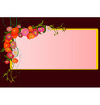 elegant abstract floral vector image vector image