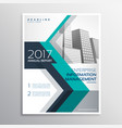 elegant annual report brochure design in size a4 vector image