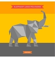 Elephant logo with reflux and low poly geometry vector image vector image
