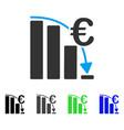 euro epic fail crisis flat icon vector image vector image