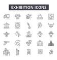 exhibition line icons for web and mobile design vector image
