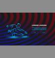 figure skating neon girl on vector image vector image