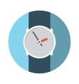 Flat Design Concept Wristwatch With Long Sha vector image vector image