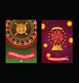fortune wheel spin game casino roulette vector image vector image