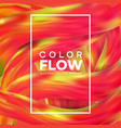 futuristic abstract background colorful wavy vector image vector image