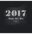 Grey New Year lettering vector image vector image