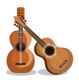 guitar instrument musical icon vector image vector image