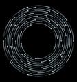 halftone circular motion frame vector image