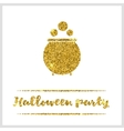 Halloween gold textured pot icon