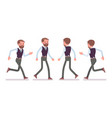 handsome male office employee walking running vector image vector image