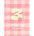 Happy Birthday for girl 1 Year vector image vector image