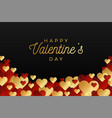 horizontal valentine day flyer or card abstract vector image