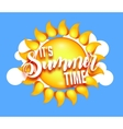 Its Summer Time vector image vector image