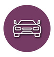 line icon of car with shadow eps 10 vector image