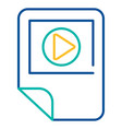 media player blue and yellow linear icon vector image vector image
