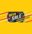 mega sale discount - layout concept vector image