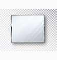 mirror square isolated realistic mirror frame vector image vector image