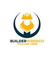 modern builder wrench logo vector image vector image