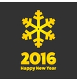 New Year 2016 sign vector image