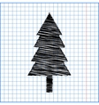New year tree with pen effect on paper vector image