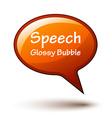 orange glossy speech bubble vector image vector image