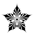 Ornamental star icon simple style vector image vector image